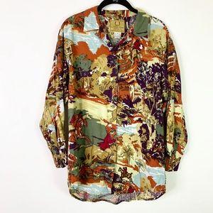 Alfred Sung Sport Button Front Shirt Blouse 4